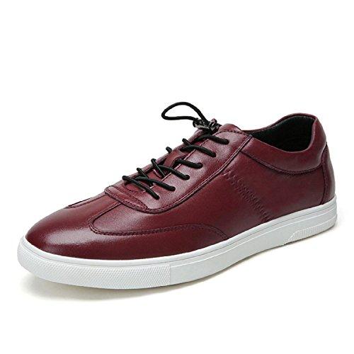 Kameel Heren Lederen Skate Schoenen Rood
