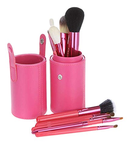 Sunsee PU Pound Makeup Brushes Holder Cosmetic Brush Container Cylinder Vessel (Cylinder Vessel)