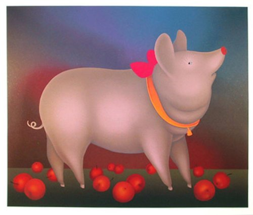 Pig with Bow