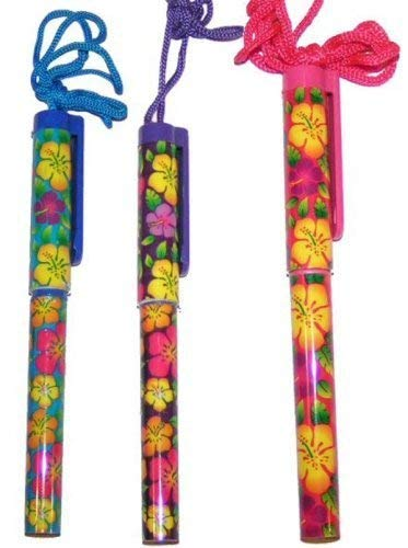 Fun Express - Bright Hibiscus Pen On A Rope Plastic (12 Pieces) -