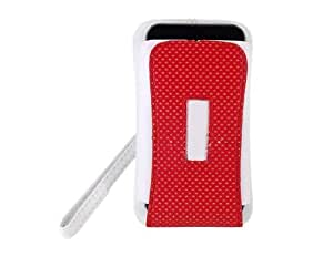 Stylish Leather Case Cover with Strap for Apple iPhone 4G (White)