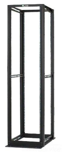 Panduit R4P 4-Post Cable Management Rack with 12-24 TPI Rails, Black -