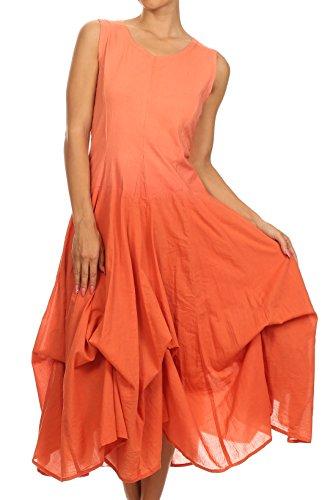 Sakkas 6102 Elsa's Rainbow Two Way Dress - Curry - One Size