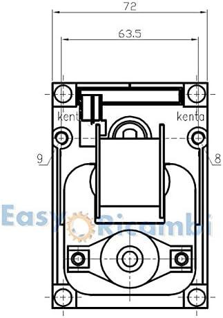 Motorino girarrosto elettrico 5 RPM giri al minuto KENTA K9177312 30W Rotazione oraria 220V Per spiedo Barbecue forno camino