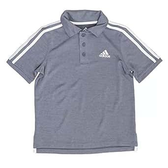 adidas Boys Golf Polo Shirt (Medium Grey, Medium 10/12)