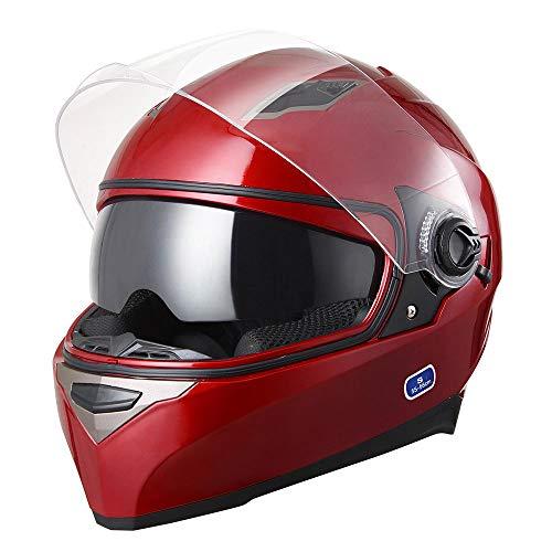 ffd57276 Yescom DOT Motorcycle Full Face Helmet Dual Visors Lightweight ABS Street  Bike Motorbike Touring Sports Man