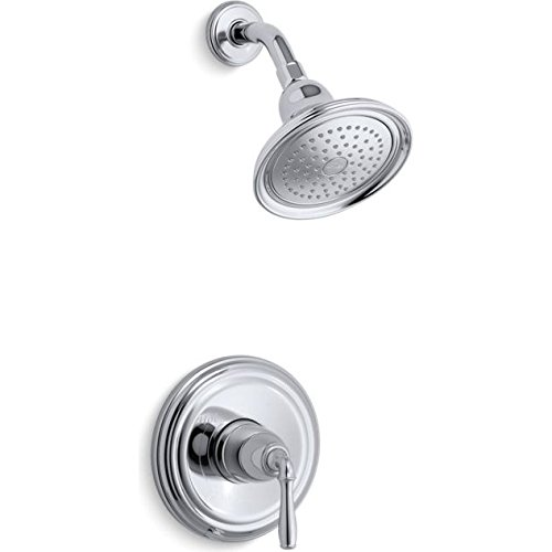 KOHLER TS396-4E-2BZ Devonshire(R) Rite-Temp(R) Shower Valve Trim with Lever Handle and 2.0 Gpm Showerhead (R) (R) ()