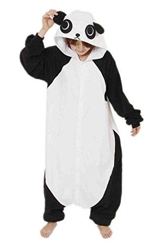 BELIFECOS Unisex Adult Pajamas Plush One Piece Cosplay Panda Animal Costume (M,Panda) (Adult M&m Costumes)