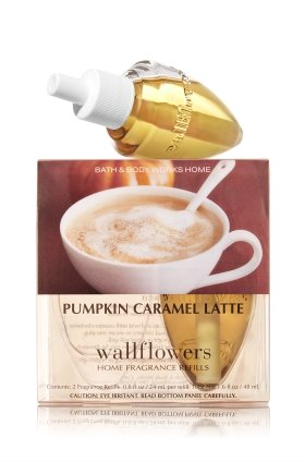 Bath and Body Works Pumpkin Caramel Latte Wallflowers 2-Pack Refills
