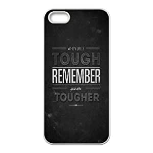 iPhone 4 4s Cell Phone Case White When Life Is Tough 2 OJ581789