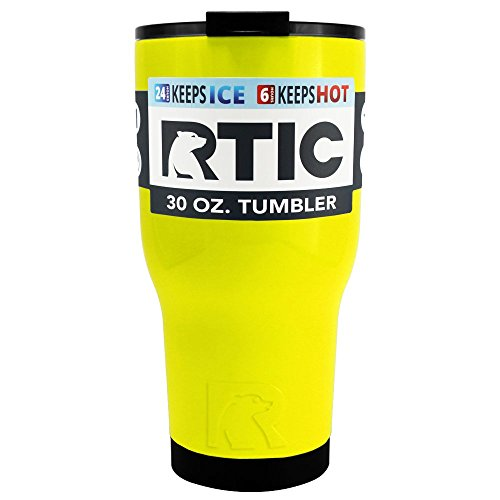 RTIC Yellow Gloss 30 oz Stainless Steel Tumbler Cup