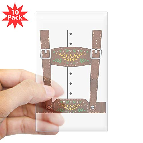 CafePress Lederhosen Oktoberfest Rectangle Bumper Sticker (10-Pack), Car Decal]()