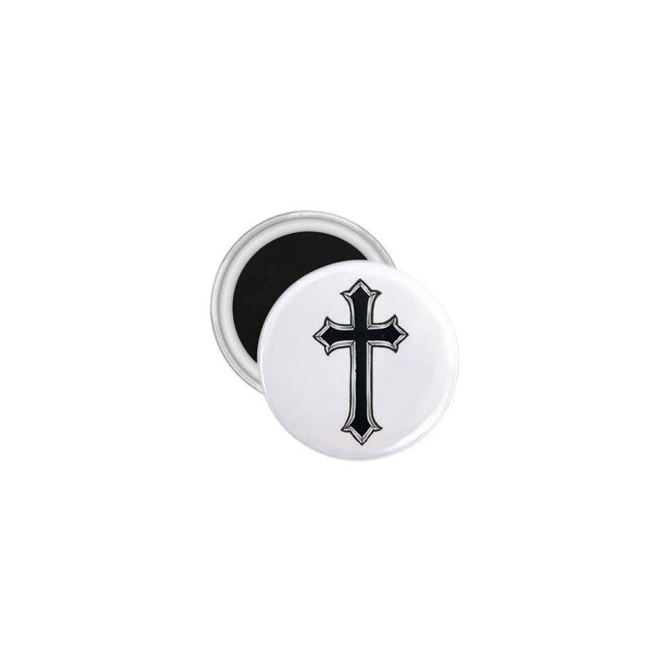 Tattoo Cross Black Art Fridge Souvenir Magnet 2.25