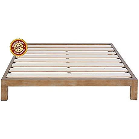 In Style Furnishings Gold Aura Metal Platform Bed Queen Size