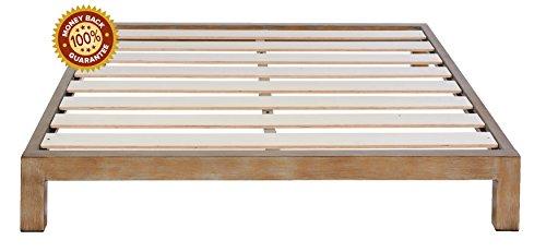 In Style Furnishings Aura Modern Metal Low Profile Thick Sla