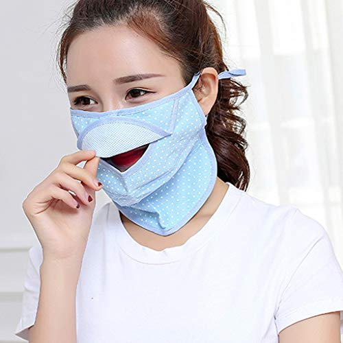 Gyouanime Safety Masks Hats Protective Mask Caps Reusable Mouth Masks Cover Protection Sport Caps (1 PC, 2 Blue)