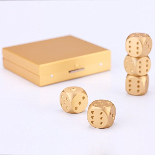 Timibis-5-in-1-Precision-Aluminum-Alloy-Gold-Color-Solid-Metal-Dice-Poker-Dominoes-Tables-Board-Game-Drinking-Game-Portable-Dice