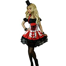 Yummy Bee Womens Queen Hearts Fairytale Costume Gloves Hat Plus Size 2 - 18