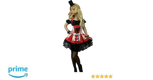 Yummy Bee Disfraz de Reina de Corazones Majestuoso Seductor Fiesta de Disfraces  Mujer Lujo Alice in Wonderland Talla Grande 34 - 50 (Mujer  44 -46)  ... 9fce066b94b