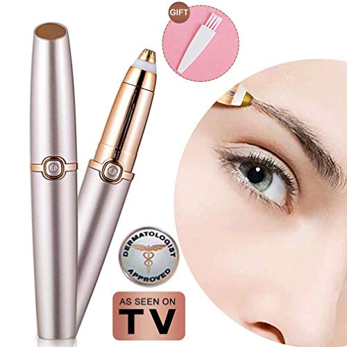 - Eyebrow hair Trimmer Epilator for Women, Libao Eye brow Remover Painless Facial Brows Hair Removal with LED Light As Seen on TV (Rose Gold)