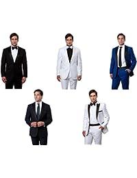 Men's One Button Luxurious Satin Peak Lapel Slim Fit Tuxedo