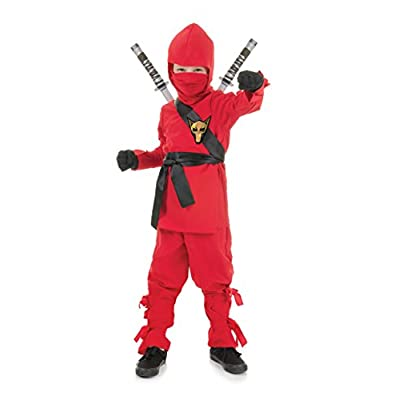 UNDERWRAPS Costumes Children's Red Ninja Costume, Medium 6-8 Childrens Costume: Clothing