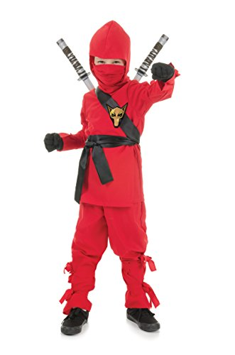 Underwraps Costumes Big Boy's Children's Red Ninja Costume, Small 4-6 Childrens Costume, red, Small ()