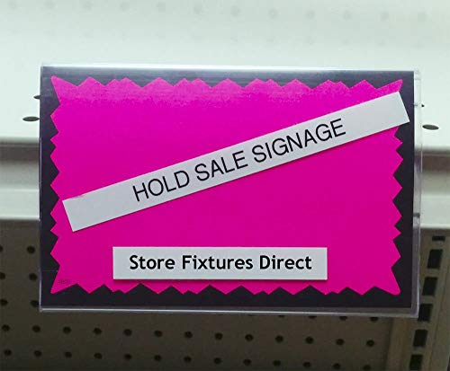 Clear Insert Sign Holder for Gondola Shelf Ticket Channel w/ 3.5