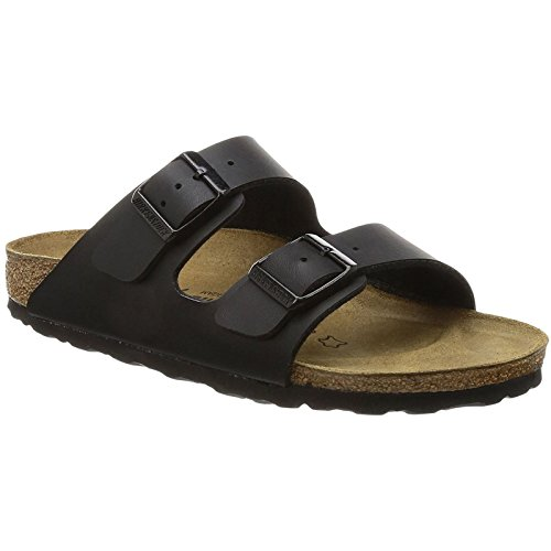 (Birkenstock Womens Arizona Black Leather Sandals 41)
