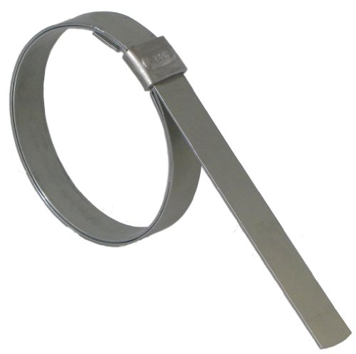 BAND-IT JS4479 Junior 1/2'' Wide x 0.030'' Thick, 3-1/2'' Diameter, 316 Stainless Steel Smooth I.D. Clamp (100 Per Box) by Band-It