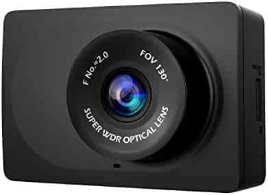 "YI Compact Dash Cam, 1080p Full HD Car Dashboard Camera with 2.7"" LCD Screen, 130° WDR Lens, G-Sensor, Night Vision, Loop Recording - Black"