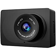 "YI Compact Dash Cam, 1080p Full HD Car Dashboard Camera 2.7"" LCD Screen, 130° WDR Lens, Mobile APP, G-Sensor, Night Vision, Loop Recording - Black"