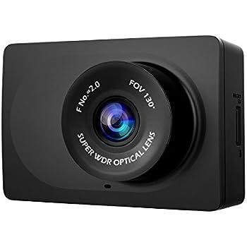 "YI Compact Dash Cam, 1080p Full HD Car Dashboard Camera with 2.7"" LCD Screen, 130° WDR Lens, G-Sensor, Night Vision, Loop Recording - Black"