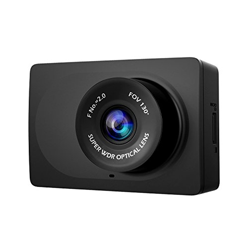 "(YI Compact Dash Cam, 1080p Full HD Car Dashboard Camera with 2.7"" LCD Screen, 130° WDR Lens, G-Sensor, Night Vision, Loop Recording - Black)"