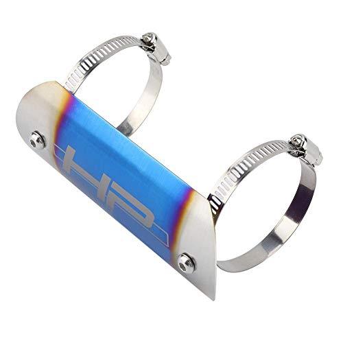 Moto Protecteur De Tuyau D/échappement En Acier Inoxydable Moto /Échappement Moyen Tuyau Bouclier Thermique Lien Tube Protecteur Couverture Talon Garde # 3