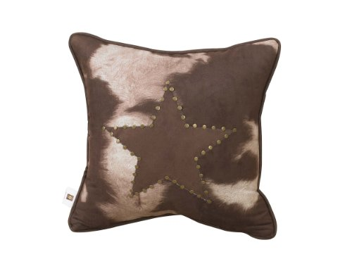 HiEnd Accents Cowhide Pillow with Star