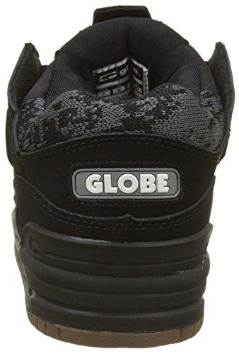 Globe Fusion, Scarpe da Skateboard Uomo Nero (Black/Camo/Jacquard)