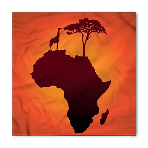 Ambesonne African Bandana, Safari Wild Animals, Unisex Head and Neck Tie