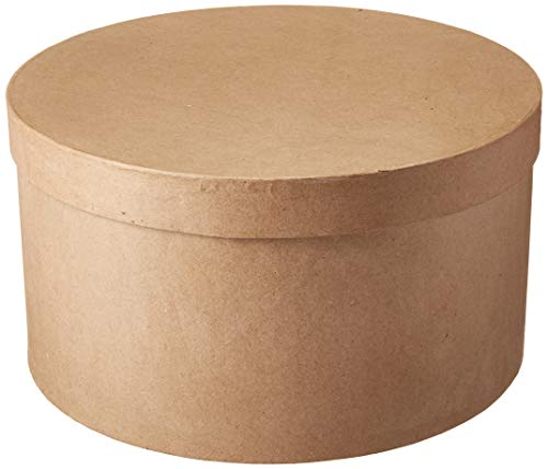 (Darice SS-DAR-2805-44FCAXL 2805-44FCAXL Paper Mache Box-Round-14 x 7-1/2 in, Natural)