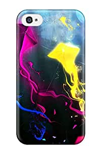 Cheap 7353188K72632982 Flexible Tpu Back Case Cover For Iphone 4/4s - Artistic