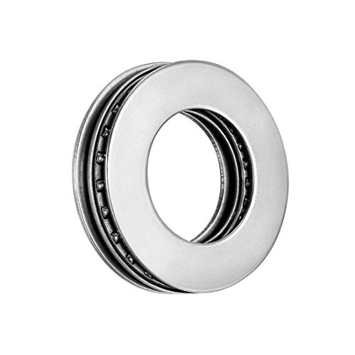 uxcell AXK2035+2AS Needle Roller Thrust Bearings with Bearing Washers, 20mm Bore Diameter, 35mm OD, 4mm Total Thickness
