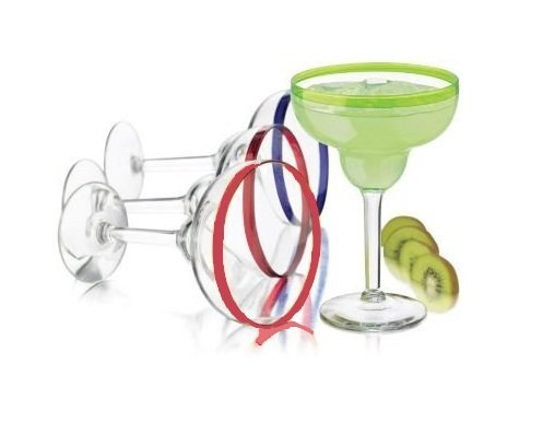 Libbey Mucho Colors 6-pc. Margarita Glass (Acrylic Margarita Glasses)