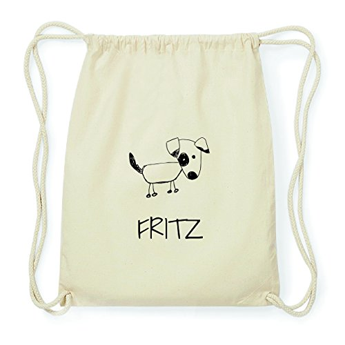 JOllipets FRITZ Hipster Turnbeutel Tasche Rucksack aus Baumwolle Design: Hund K3BbBe