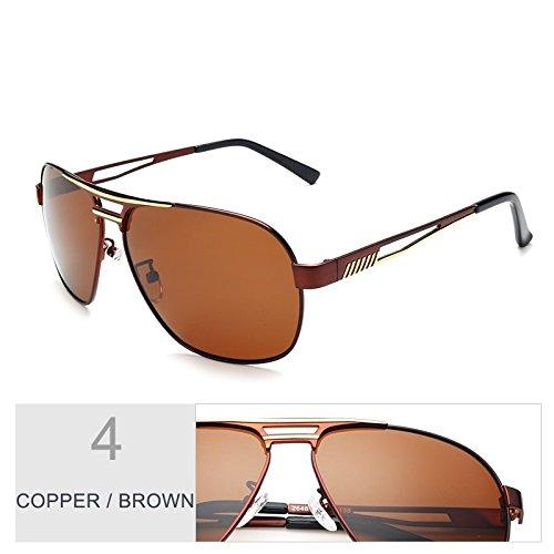 Polarizadas Gafas Sol Macho Gafas De Guía Azul Copper Brown Revestimiento Hombres De TIANLIANG04 Oculos Aviador Piloto Gafas Color Espejo De De Plata Sgw4WqfIp