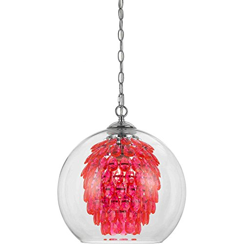 Pink Metal Pendant Light in Florida - 5