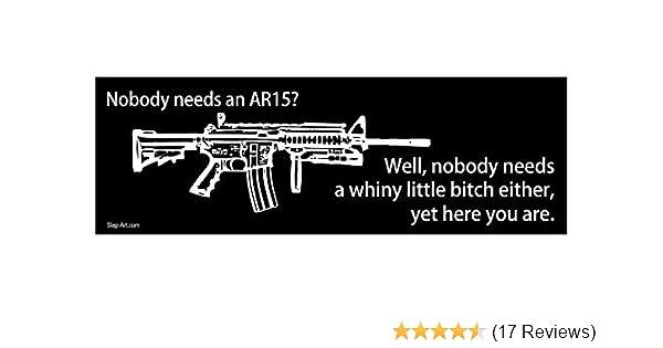 382647bd1c8 Amazon.com  Nobody Needs an AR15 Well