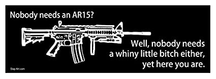5c920cc5ec9 Image Unavailable. Image not available for. Color  Nobody Needs an AR15  Well