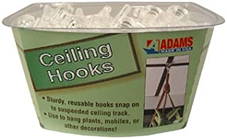 product image for Clear Plastic Ceiling Hook -- Case of 30