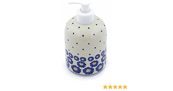 Certificate of Authenticity Polish Pottery Soap Dispenser Made by Ceramika Artystyczna Flower Pads Theme