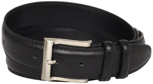 Grain Padded Leather (Florsheim Men's Smooth Grain Padded Leather Belt 32MM, Black, 34)